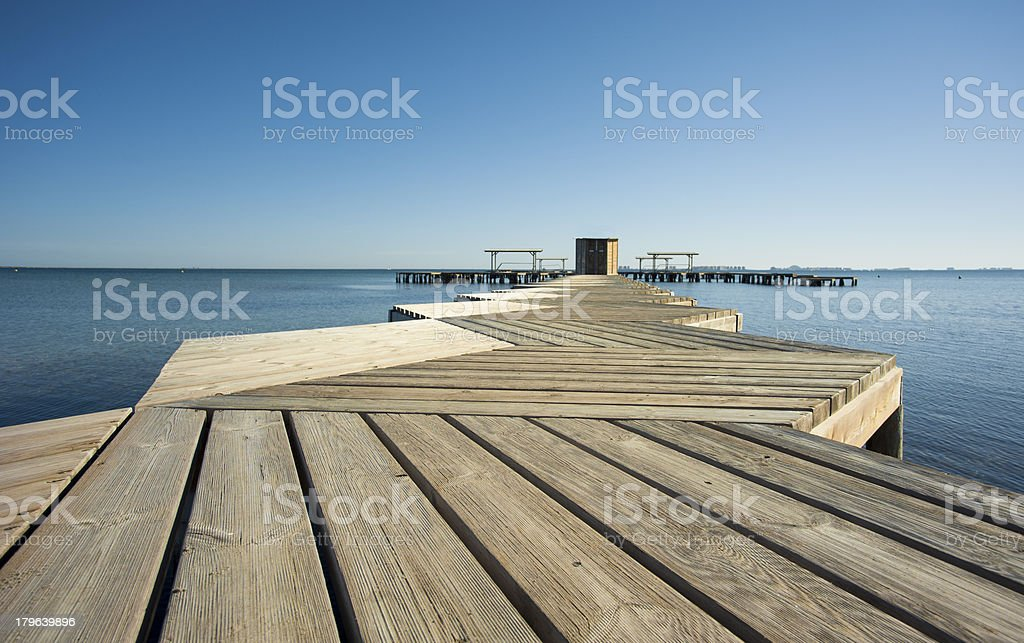Pier low angle royalty-free stock photo
