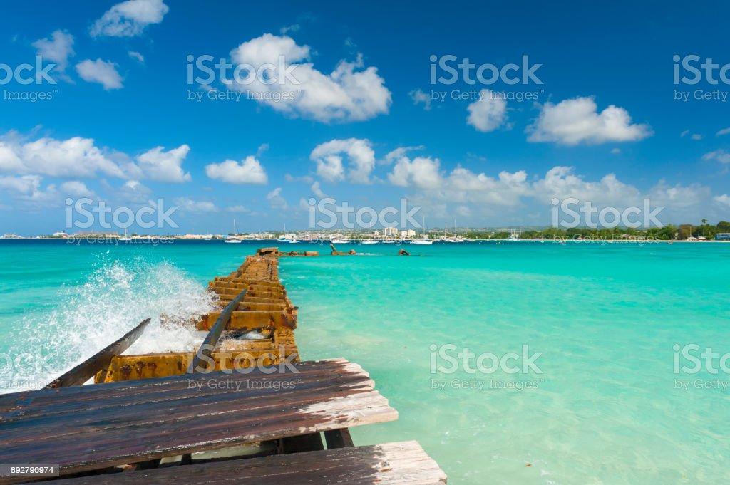 Pier near Bridgetown stock photo