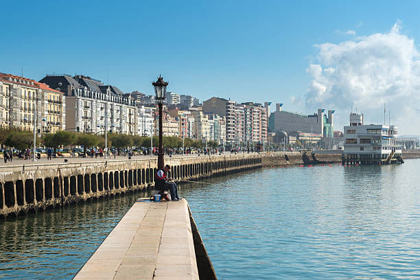 Pier of Santander stock photo