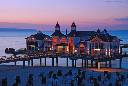 Pier of Sellin,Ruegen Island,Germany