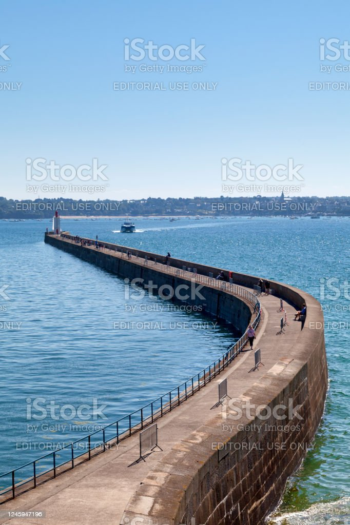 Pier of the Môle des Noires in Saint-Malo - Royalty-free Brittany - France Stock Photo