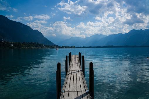 Pier on Lake Geneva