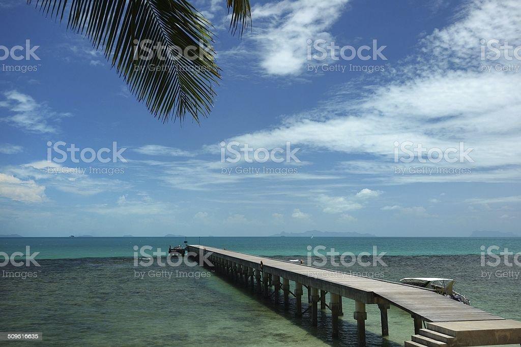 Pier Samui island stock photo