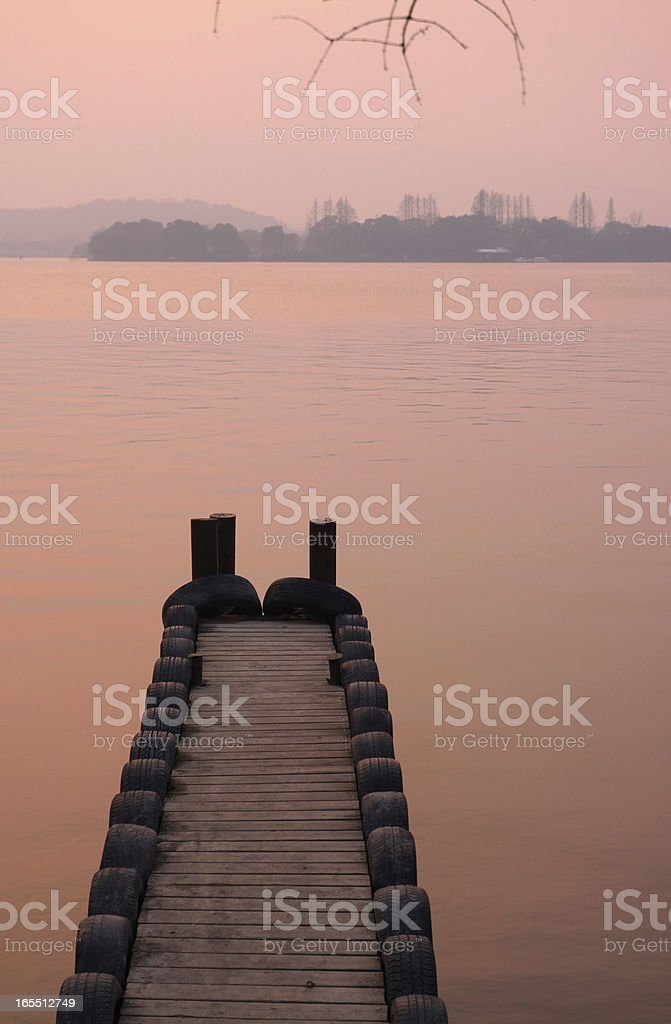 pier south of china royalty-free stock photo