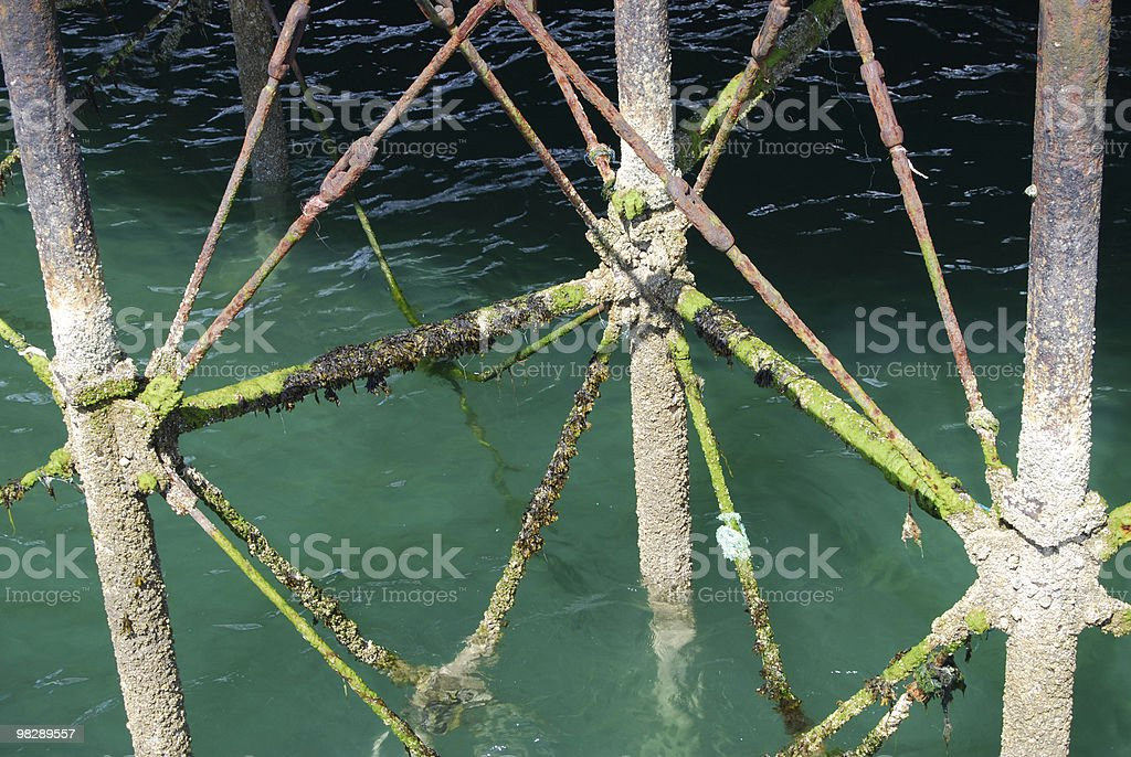 Pier support structure royalty-free stock photo