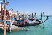 Scenic view of pier and embankment, Venice (Italy)