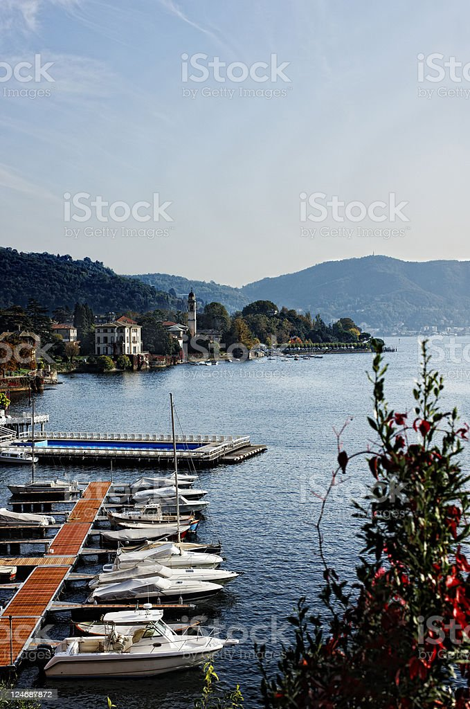 Pier with Recreational Boats royalty-free stock photo
