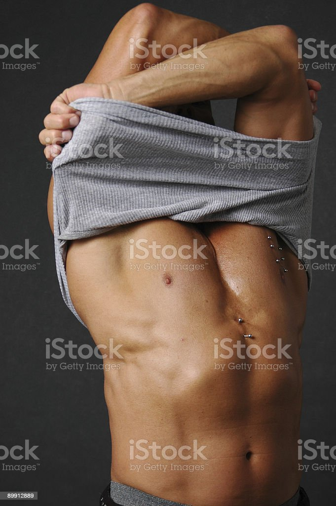 Pierced stripper royalty-free stock photo