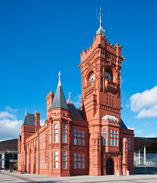 Pierhead Building at Cardiff Bay in Wales, UK stock photo