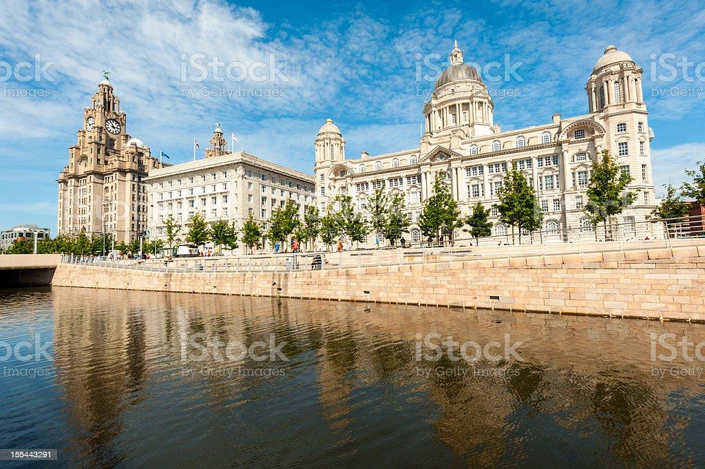 Pierhead, Liverpool, England stock photo