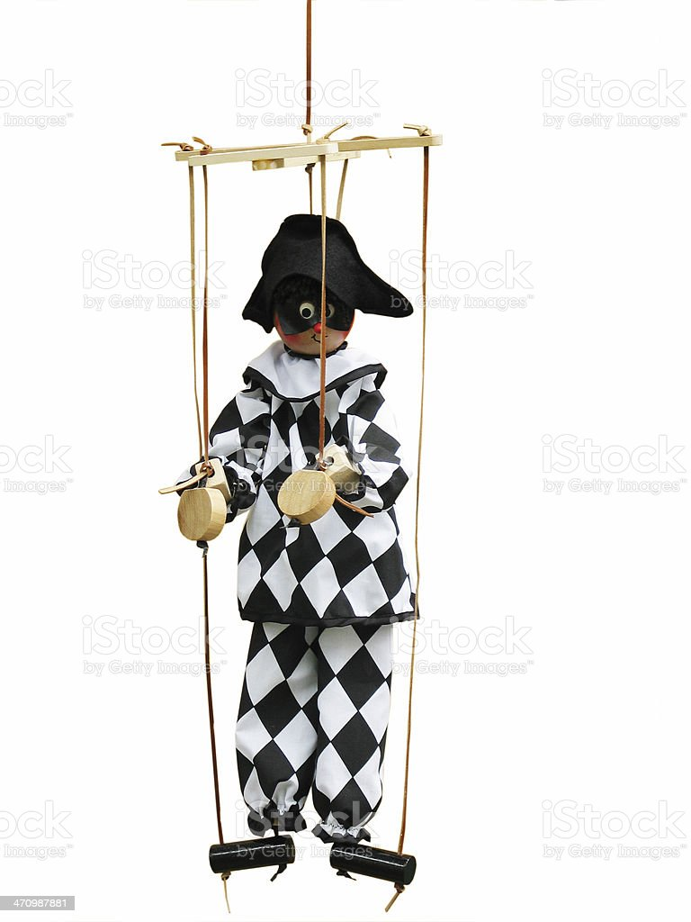 pierrot marionette royalty-free stock photo