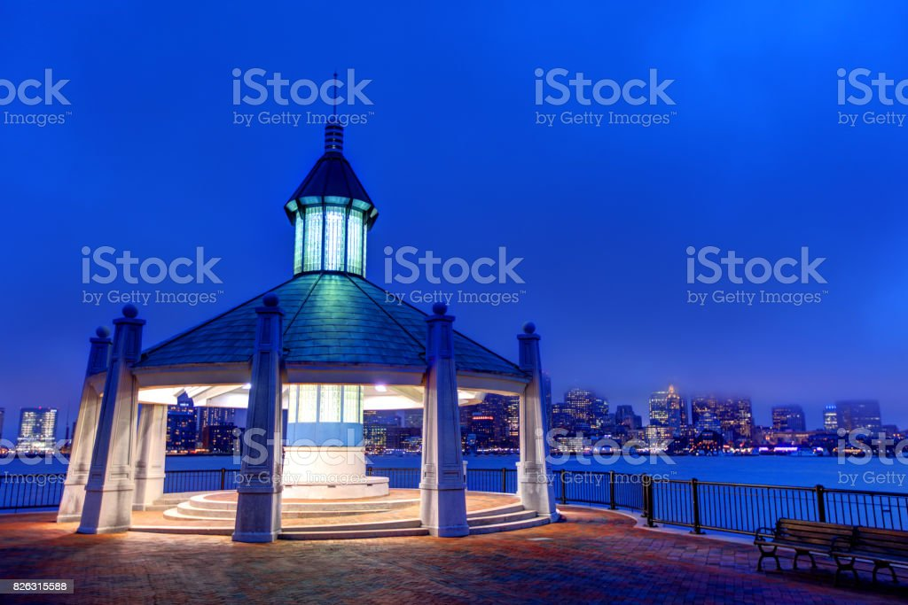 Piers Park East Boston stock photo