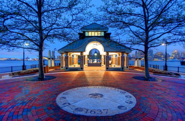 Parque Piers en Boston - foto de stock