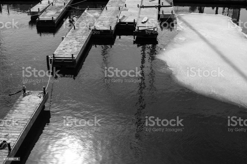 Piers stock photo