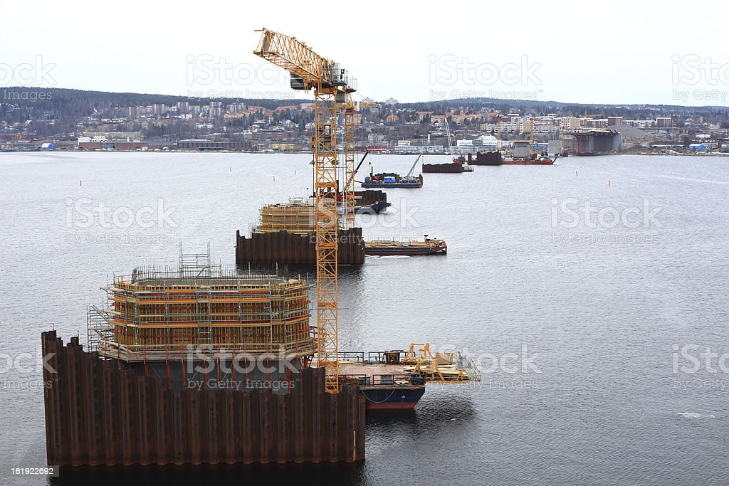 Piers under construction royalty-free stock photo