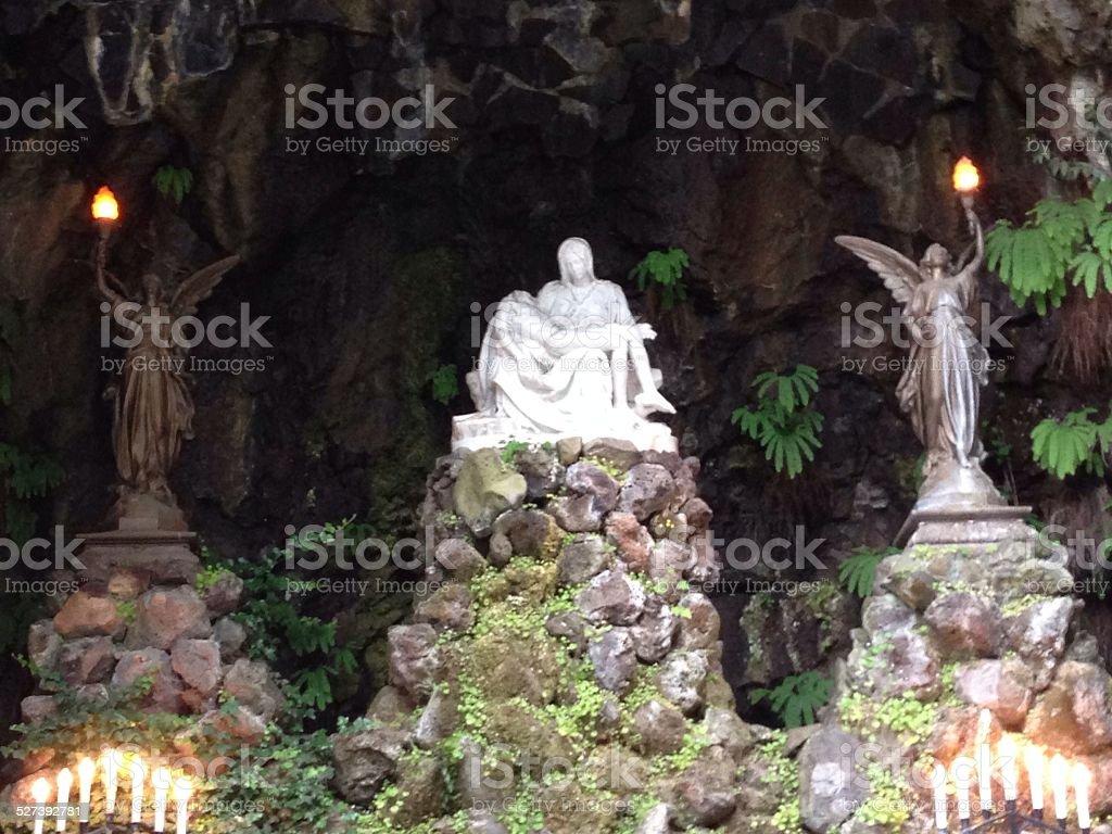 Pieta Replica Shrine stock photo