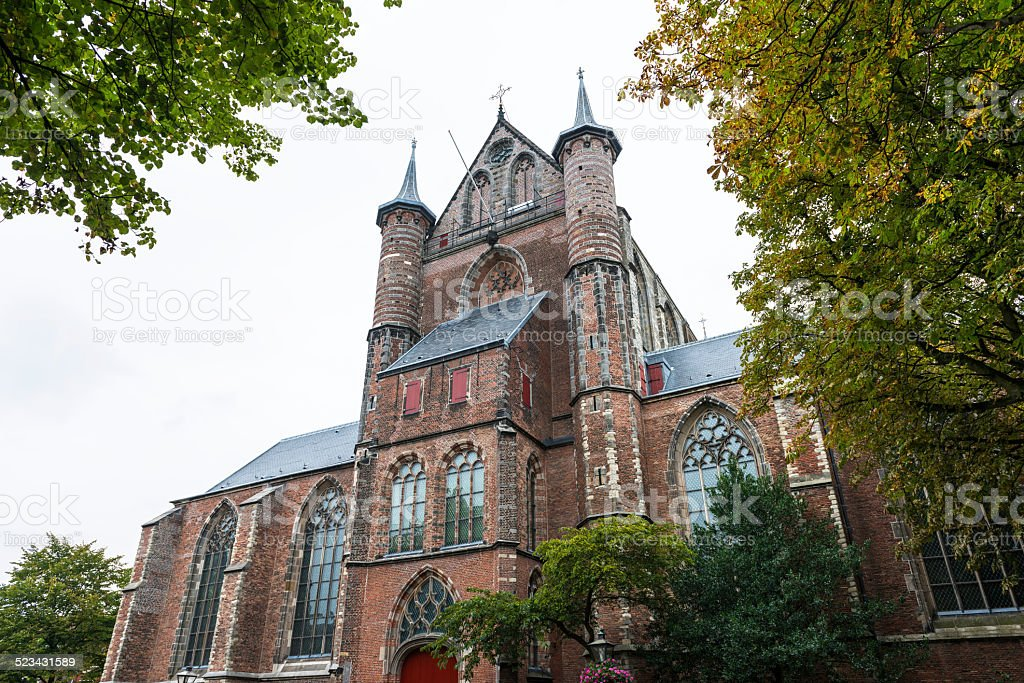 Pieterskerk church in Leiden, Holland stock photo