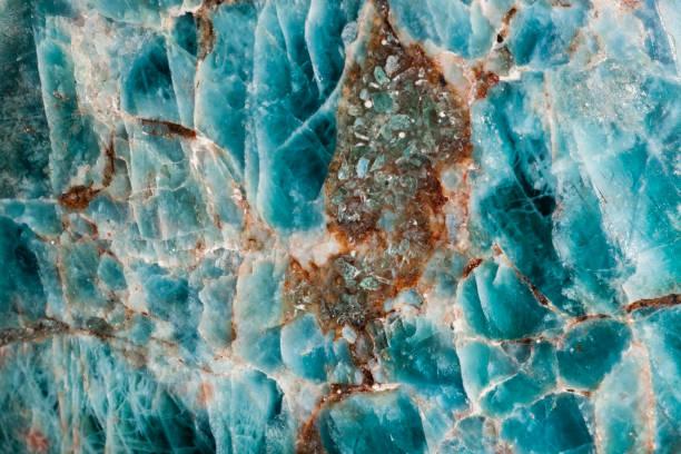 Pietra semipreziosa colore blu mare oceano - foto di stock immagine - foto stock