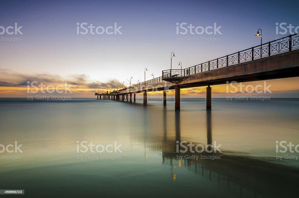 Pietrasanta's Pier stock photo