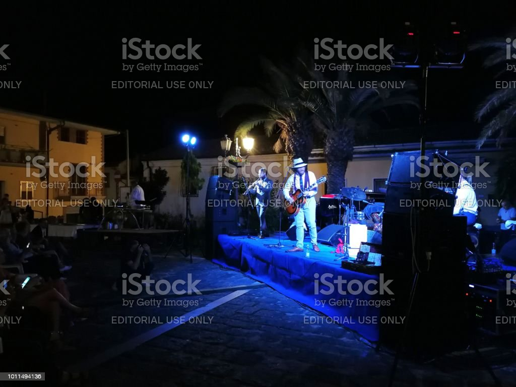 "Pietrelcina - Dr. Jazz a ""Jazz sotto le stelle"" - foto stock"