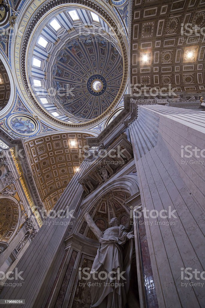 S. Pietro Basilica ceiling royalty-free stock photo