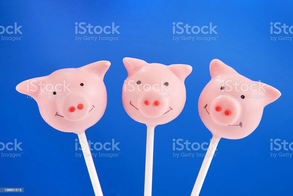 Pig cake pops stock photo