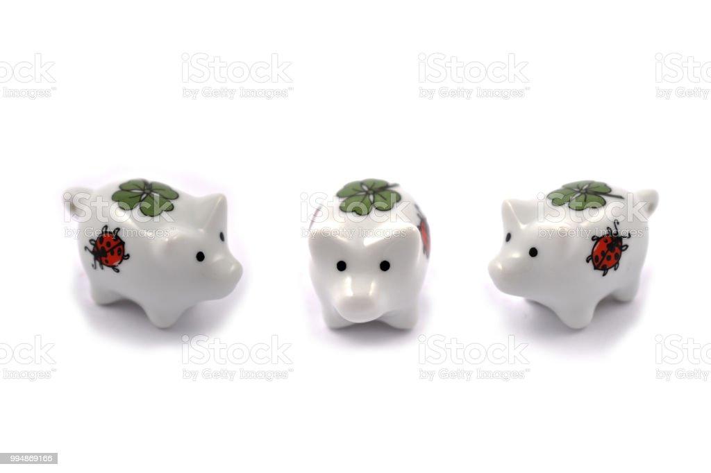 Pig figurine stock images stock photo