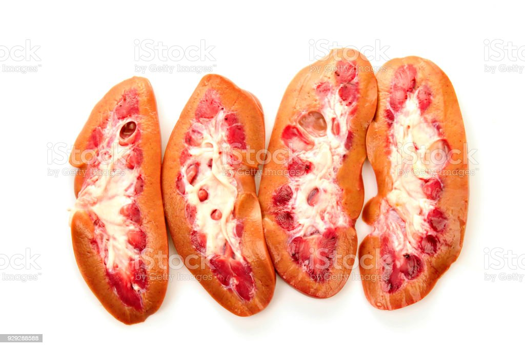 Pig Kidney On A White Background Stock Photo More Pictures Of