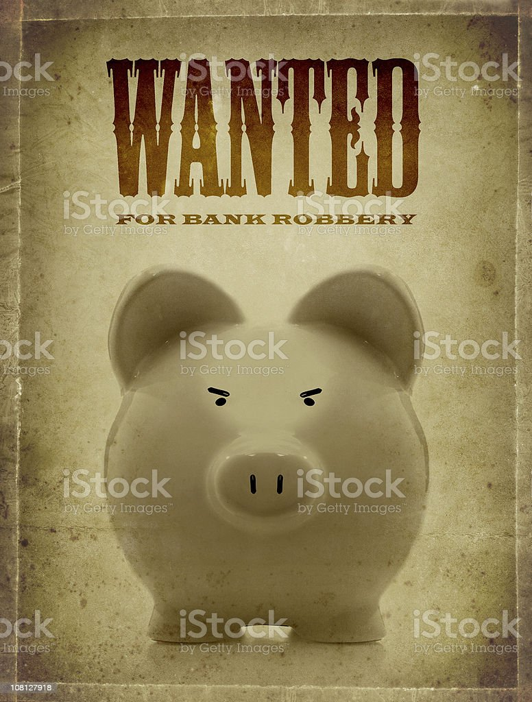 pig wanted royalty-free stock photo