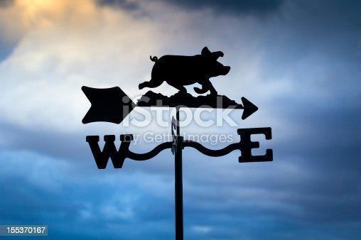istock Pig Weathervane 155370167