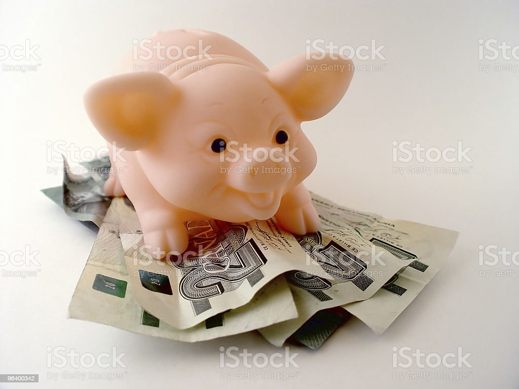 Pig with Money - Royalty-free Abstract Stock Photo