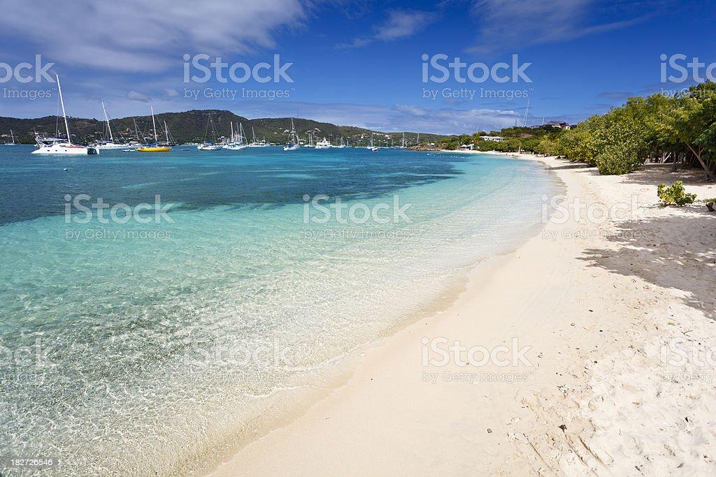 Pigeon Beach, Antigua stock photo