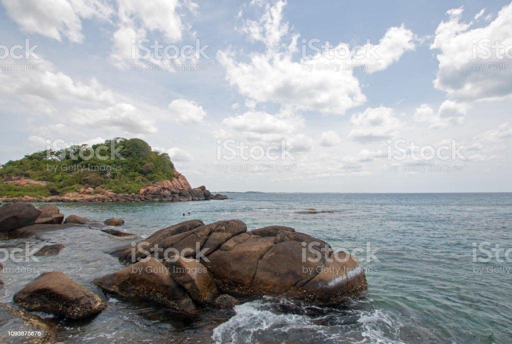 Pigeon Island National Park Direkt Vor Dem Strand Von