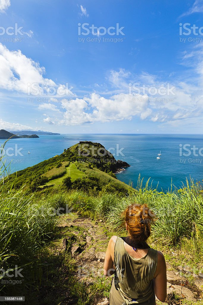 Pigeon Island National Park, St. Lucia royalty-free stock photo