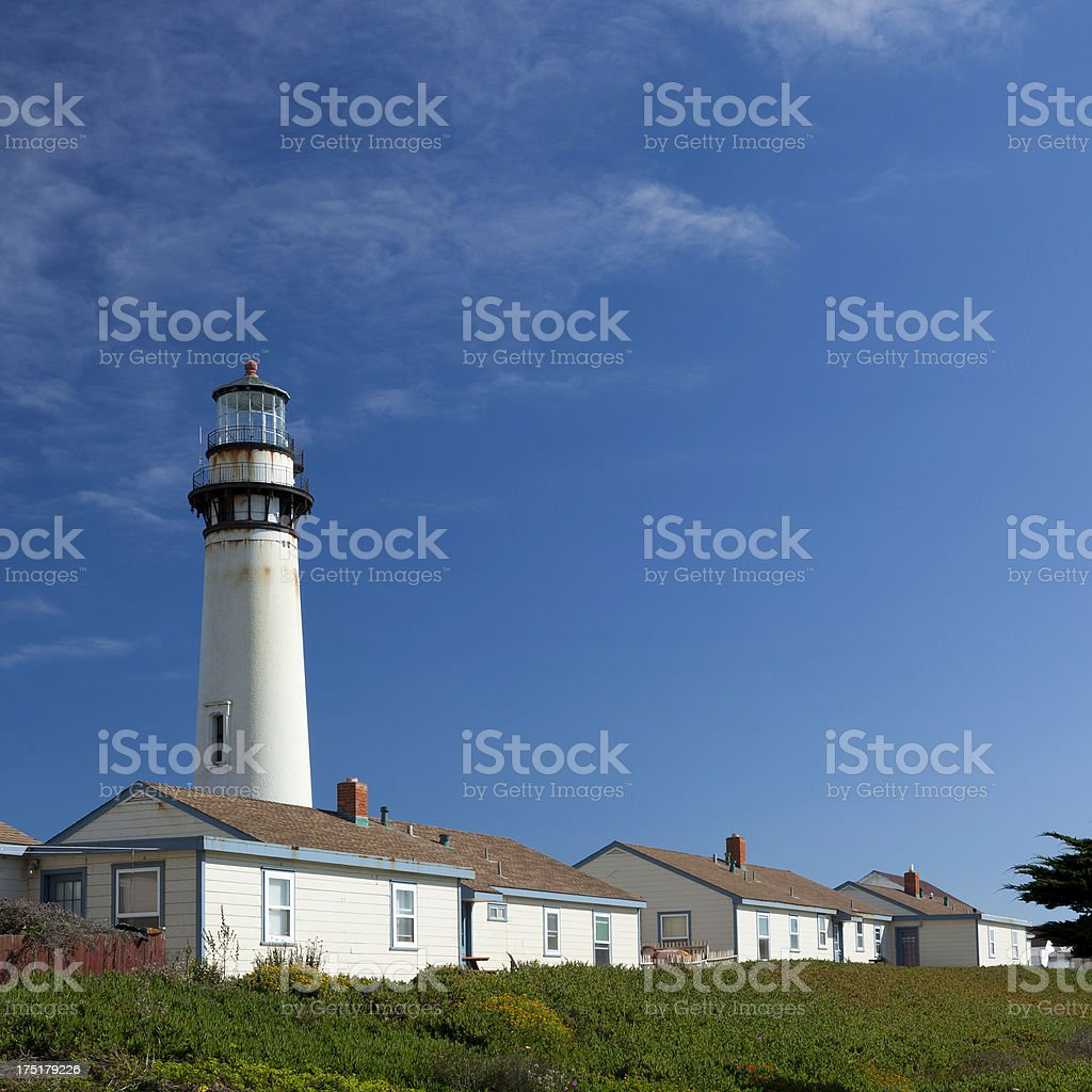 Pigeon Point lighthouse and hostel royalty-free stock photo