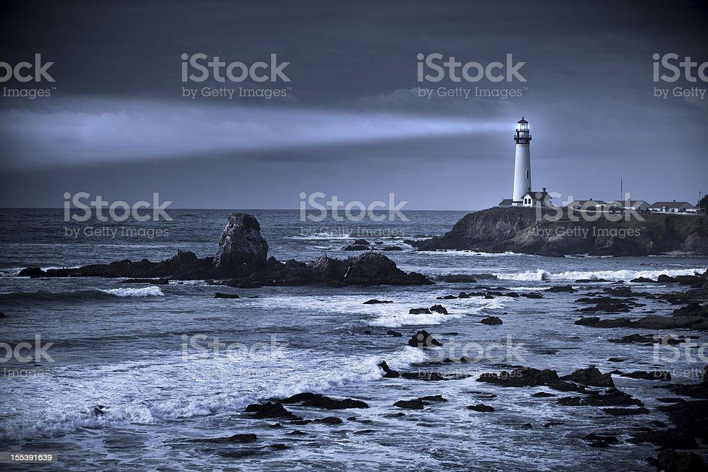 Pigeon Point lighthouse USA, California, Big Sur royalty-free stock photo