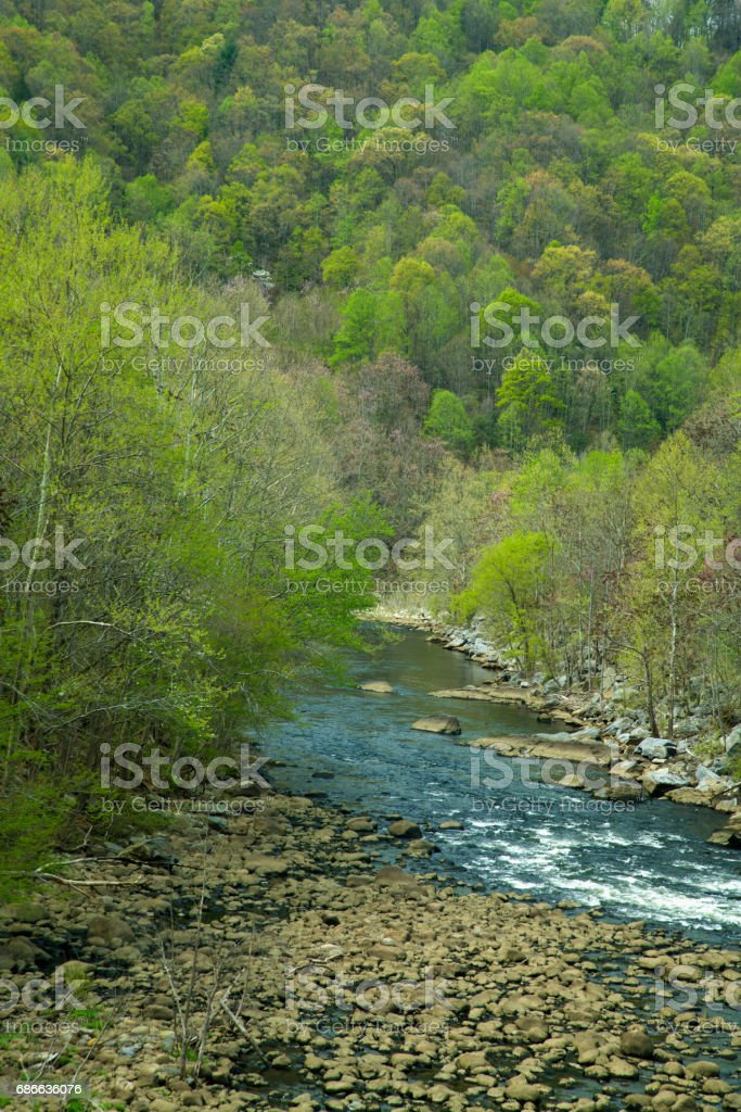 Pigeon River, East Tennessee stock photo