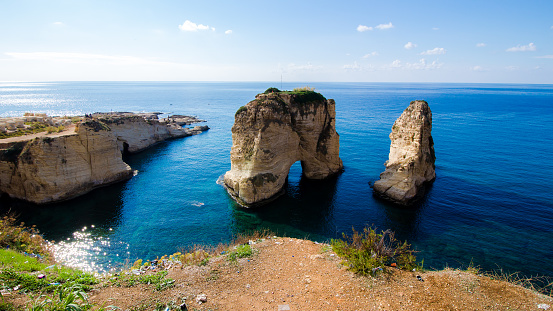 istock Pigeon Rocks at Raouche in Beirut, Lebanon 1068783538
