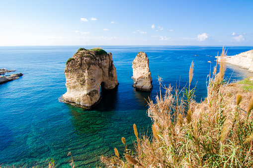 istock Pigeon Rocks at Raouche in Beirut, Lebanon 1068783610