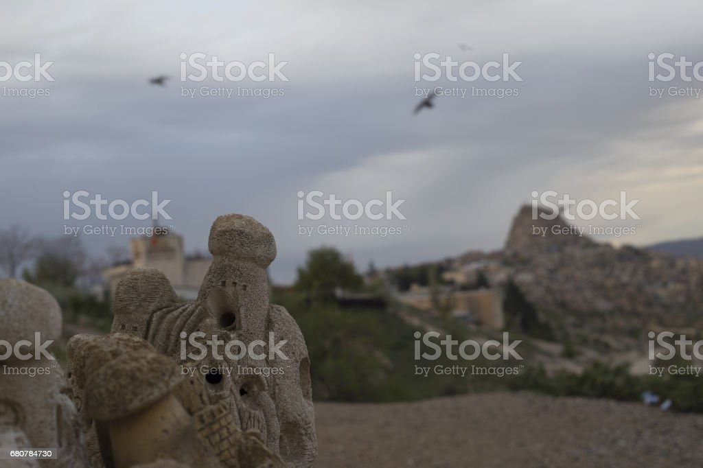 Pigeon Valley in Goreme in the summer months. Cappadocia, Turkey stock photo