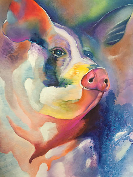 royalty free pigs painting pictures images and stock photos istock
