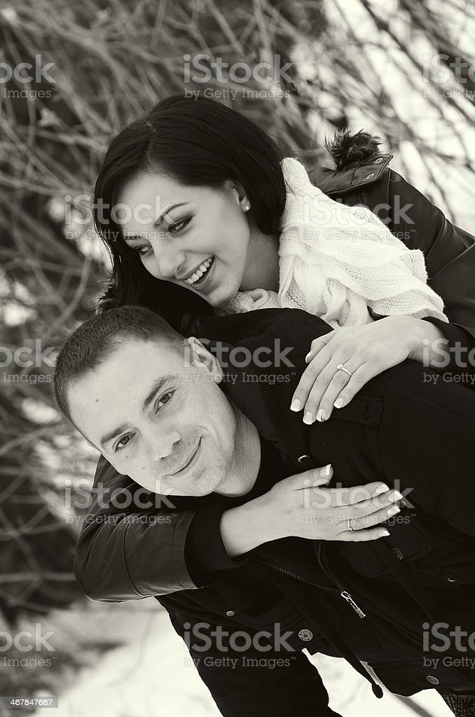 Piggy Back Laughing royalty-free stock photo