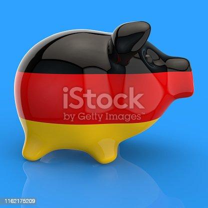 istock Piggy bank - 3D Illustration 1162175209