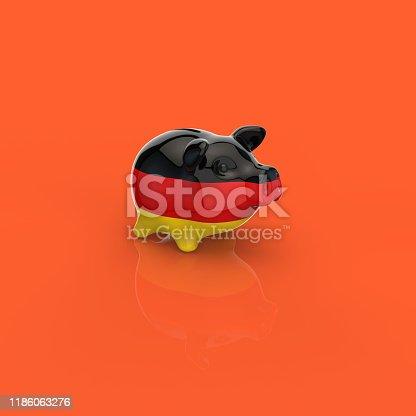istock Piggy bank - 3D Illustration 1186063276
