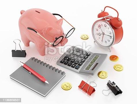 istock Piggy Bank Accounting (Alternate Version) 1136856531
