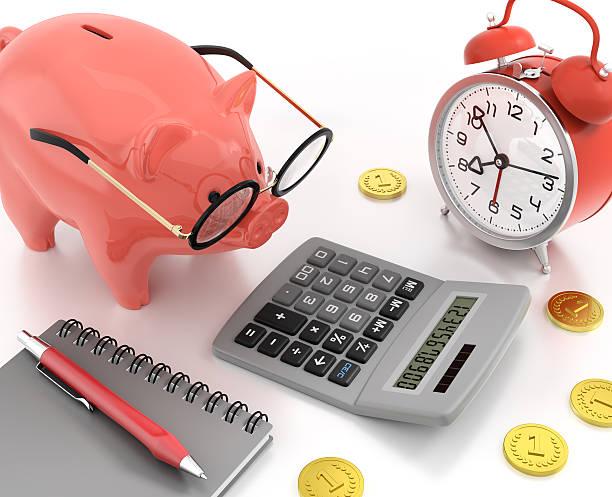 Piggy Bank Accounting stock photo
