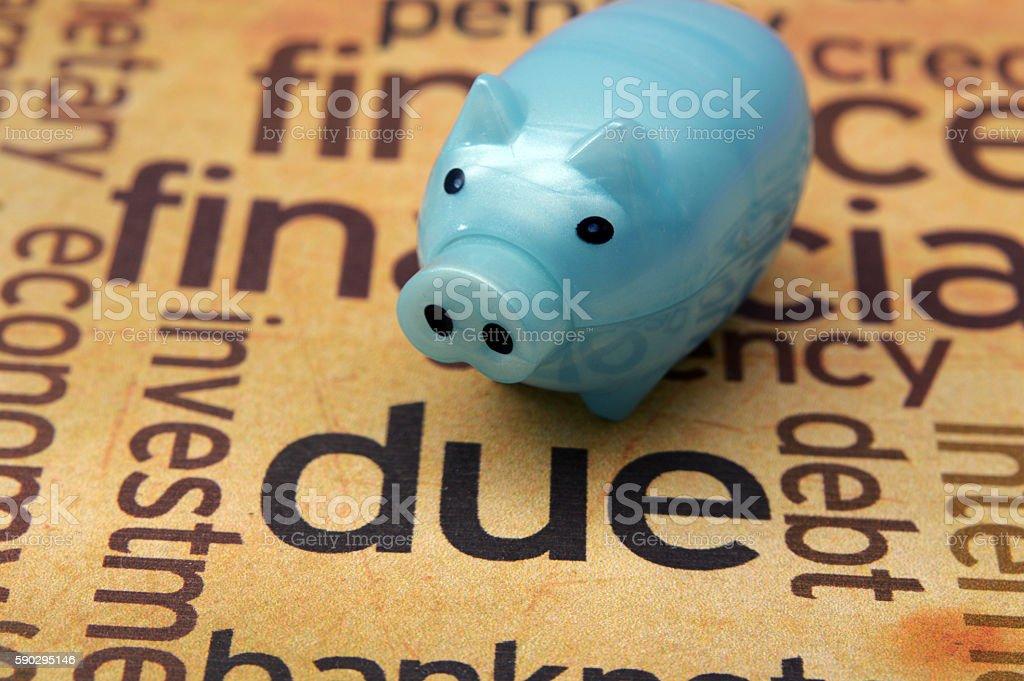 Piggy bank and due concept royaltyfri bildbanksbilder