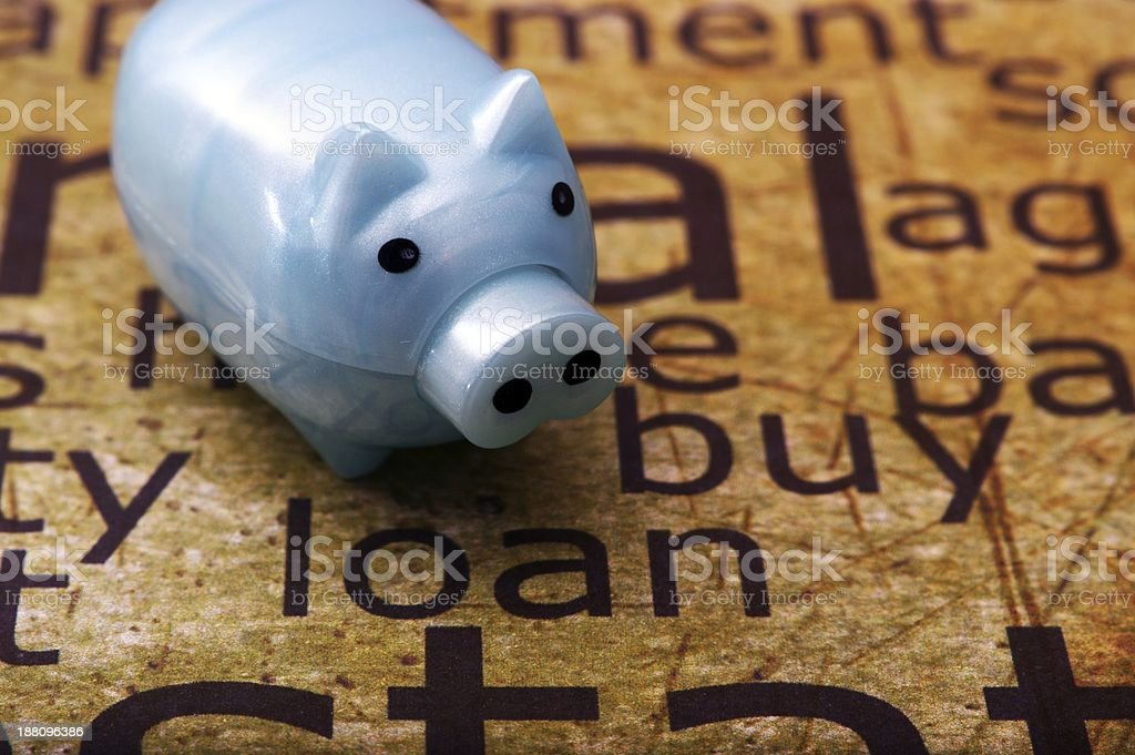 Piggy bank and loan concept stock photo