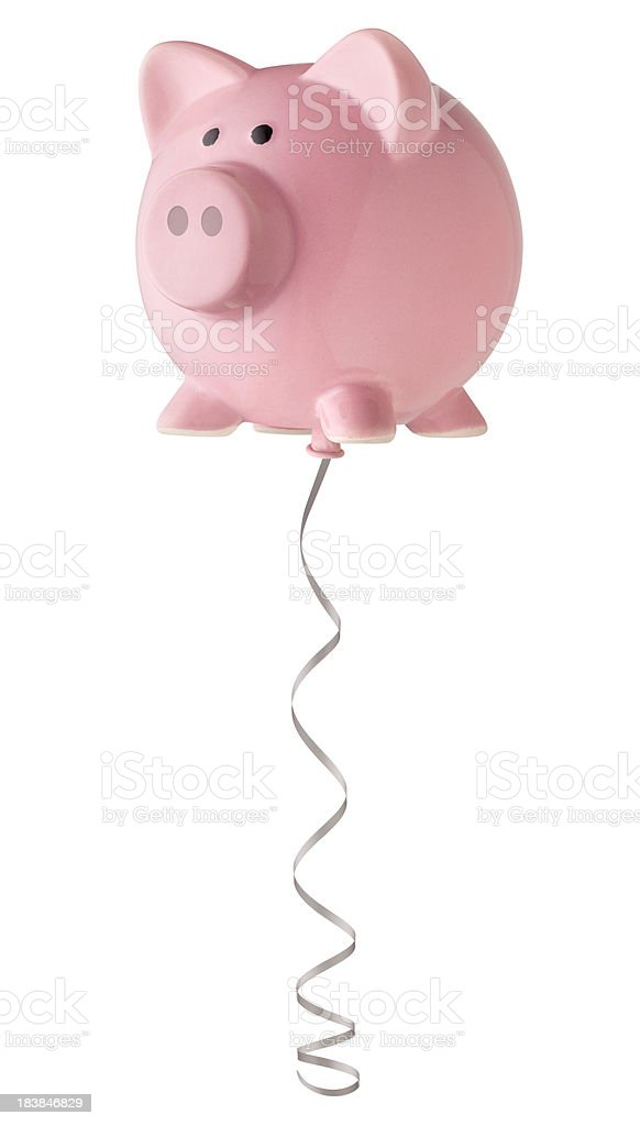 Piggy bank balloon. stock photo
