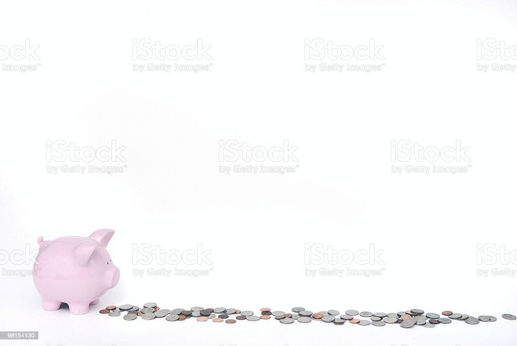 Piggy Bank Bread Crumbs royalty-free stock photo